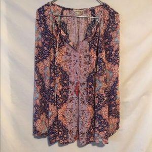 Lucky Brand Large paisley rayon shirt 1450